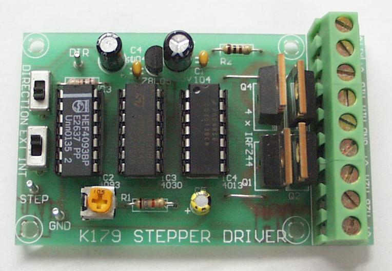 Website for Stepper motor with driver